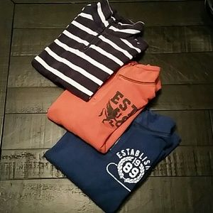 EUC Children's PLACE 3 Boys Half Zip Pullovers